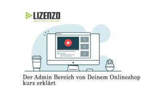 Der Admin Bereich vom Onlineshop